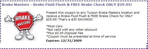 the bargain hunter free tucson brake masters coupons