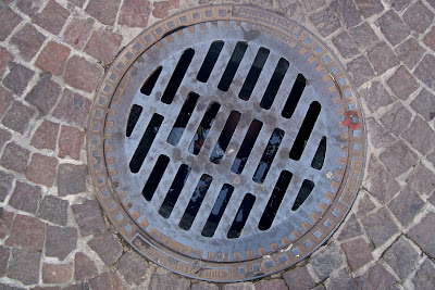 texture drain sewer street