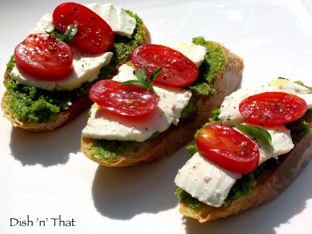 Garlic Scape Pesto is great on bread topped with fresh mozzarella ...