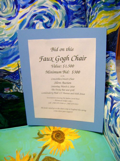 Art And Life Faux Gogh Style For Silent Auction