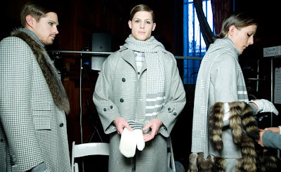 thom browne, new york, NY, catwalk, fall, winter, autumn, 2010, 2011, 10/11, tailoring, men's, raccoon, fur