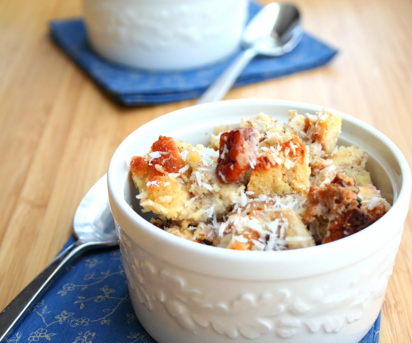 Thai Coconut Bread Pudding with Vanilla Cardamom Cream (Low Carb and ...