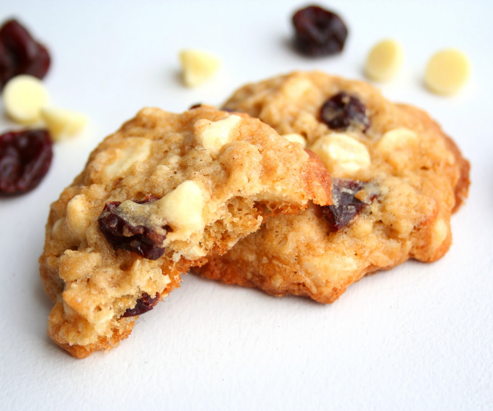 Cherry White Chocolate Chip Oatmeal Cookies | All Day I ...