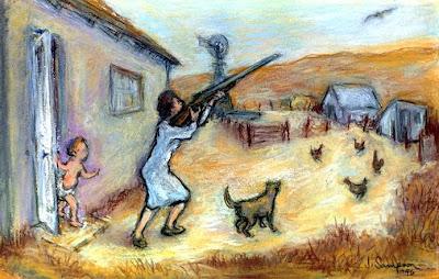 [Sampson sketch of the errant chicken-hawk]