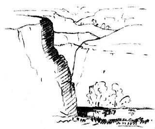 [Warren sketch of the Niobrara River Valley]