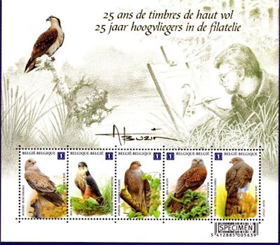 [Belgian bird stamps set by Andre Buzin]