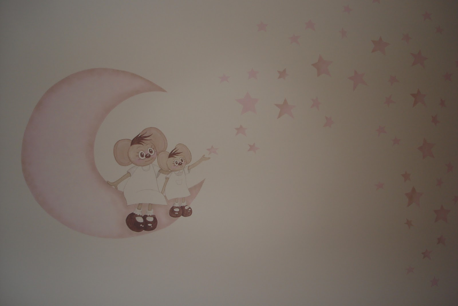 Aerografia y decoraci n habitaci n daniela - Pinturas habitaciones infantiles ...