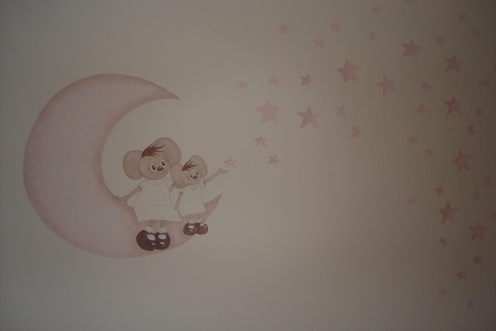Aerografia y decoraci n habitaci n daniela - Dibujos paredes infantiles ...