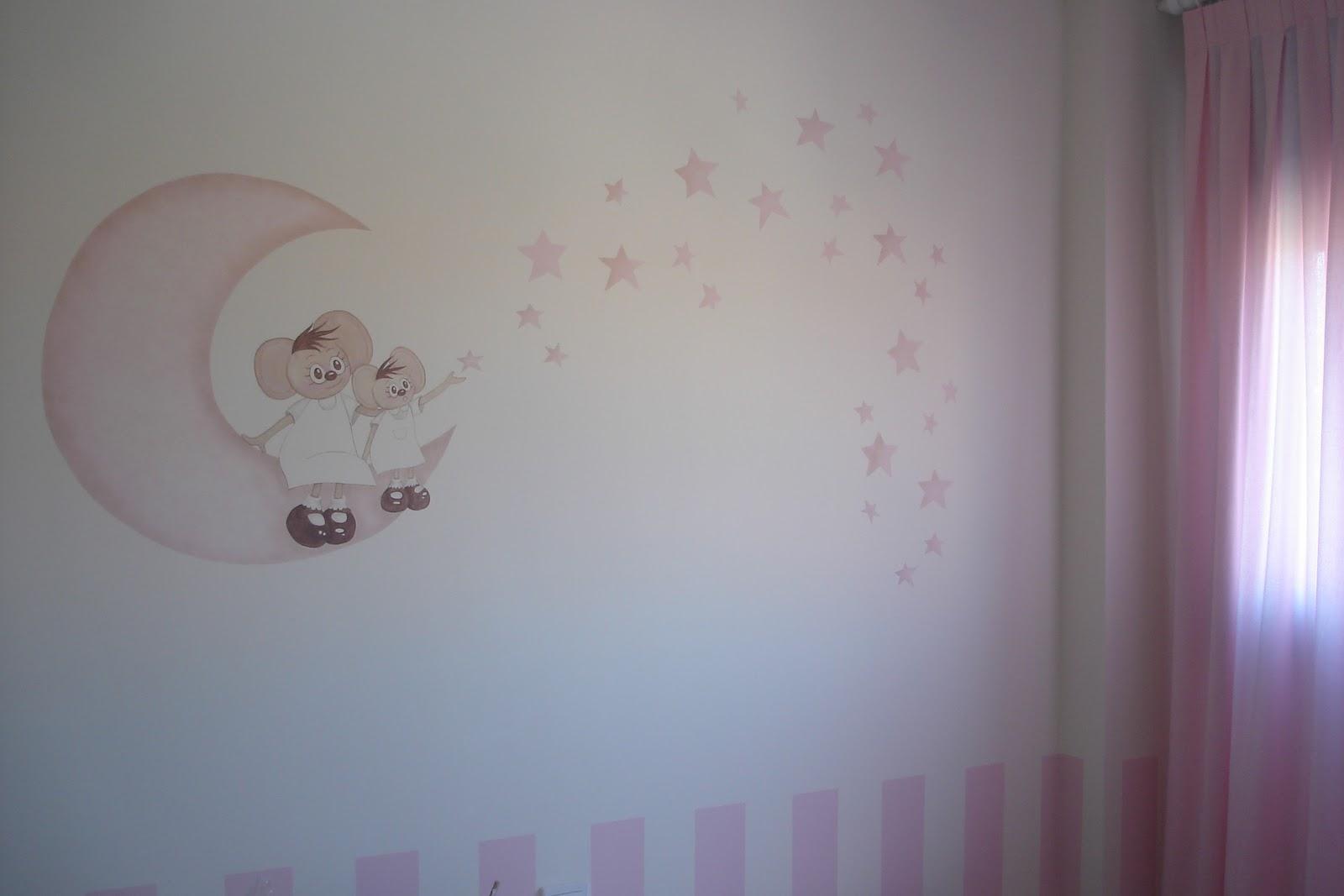 Aerografia y decoraci n habitaci n daniela - Dibujos habitacion bebe ...