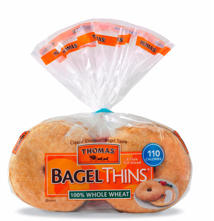 one plain bagel calories with Thomas Bagel Thins Healthy Breakfast on Einstein Bros Bagels Free Thintastic Bagel Schmear together with My Havent Grown Portion Sizes Changed 25 Years together with Mini Stuffed Bagel Bites For Weekdaysupper in addition Nutrition Facts likewise Inflation Cops A Donut.