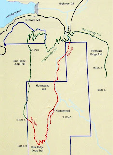 Stebbins Cold Canyon Reserve hiking trails map
