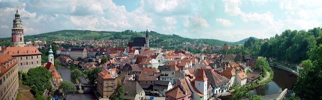 Cesky Krumlov, República Checa. A cidade medieval