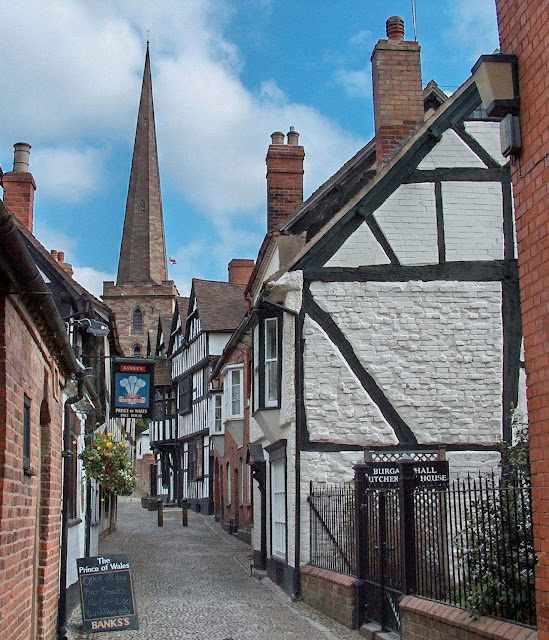 Church Lane, Ledbury, Herefordshire. A cidade medieval