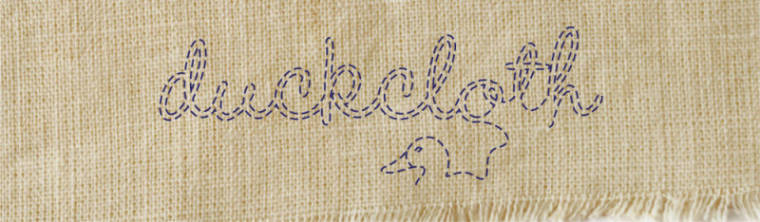Duckcloth...the blog