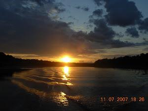 Pôr do Sol no Rio Juruá