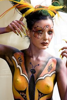 hot babe body painting sport