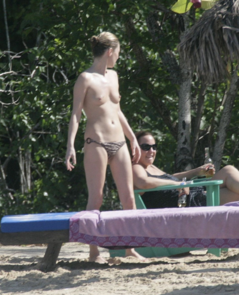 kate moss topless beach%2Bagain 004 The 35 minute film is more an extended music video than a proper movie, ...