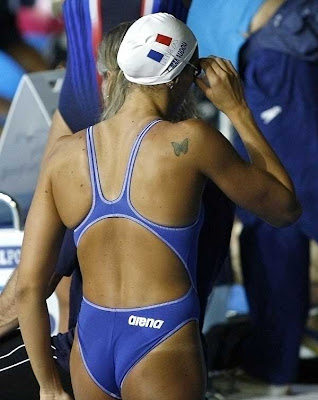 French Olympic Gold Medalist Laure Manaudou is Naked and Sucking, ...