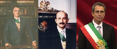 Durante este periodo gobiernan tres presidentes