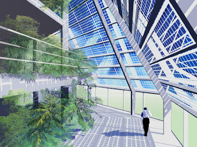 Diseño de edificio de oficinas con fotovoltaica integrada