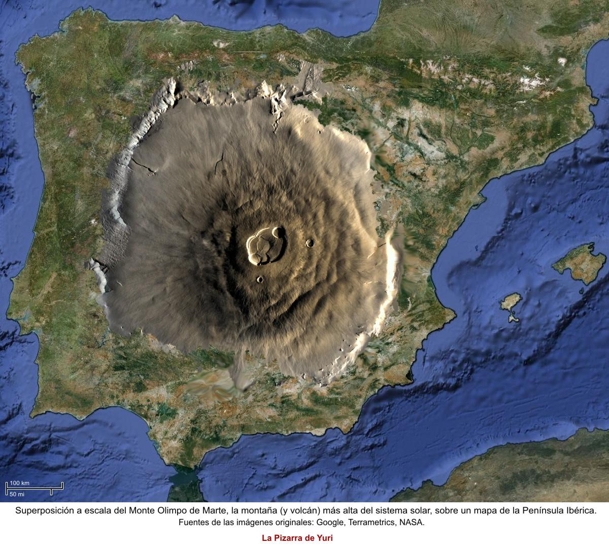 El Monte Olimpo de Marte Volcanes_olimpo_marte_peninsula_iberica