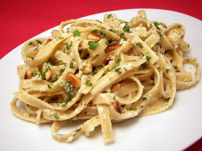 Culinary in the Desert: Fettuccine with Parmesan, Pine ...
