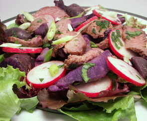 Steak and Purple Potato Salad Picture