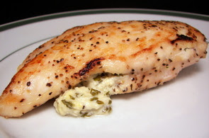 Chicken Breasts Stuffed with Garlic and Herbed Goat Cheese