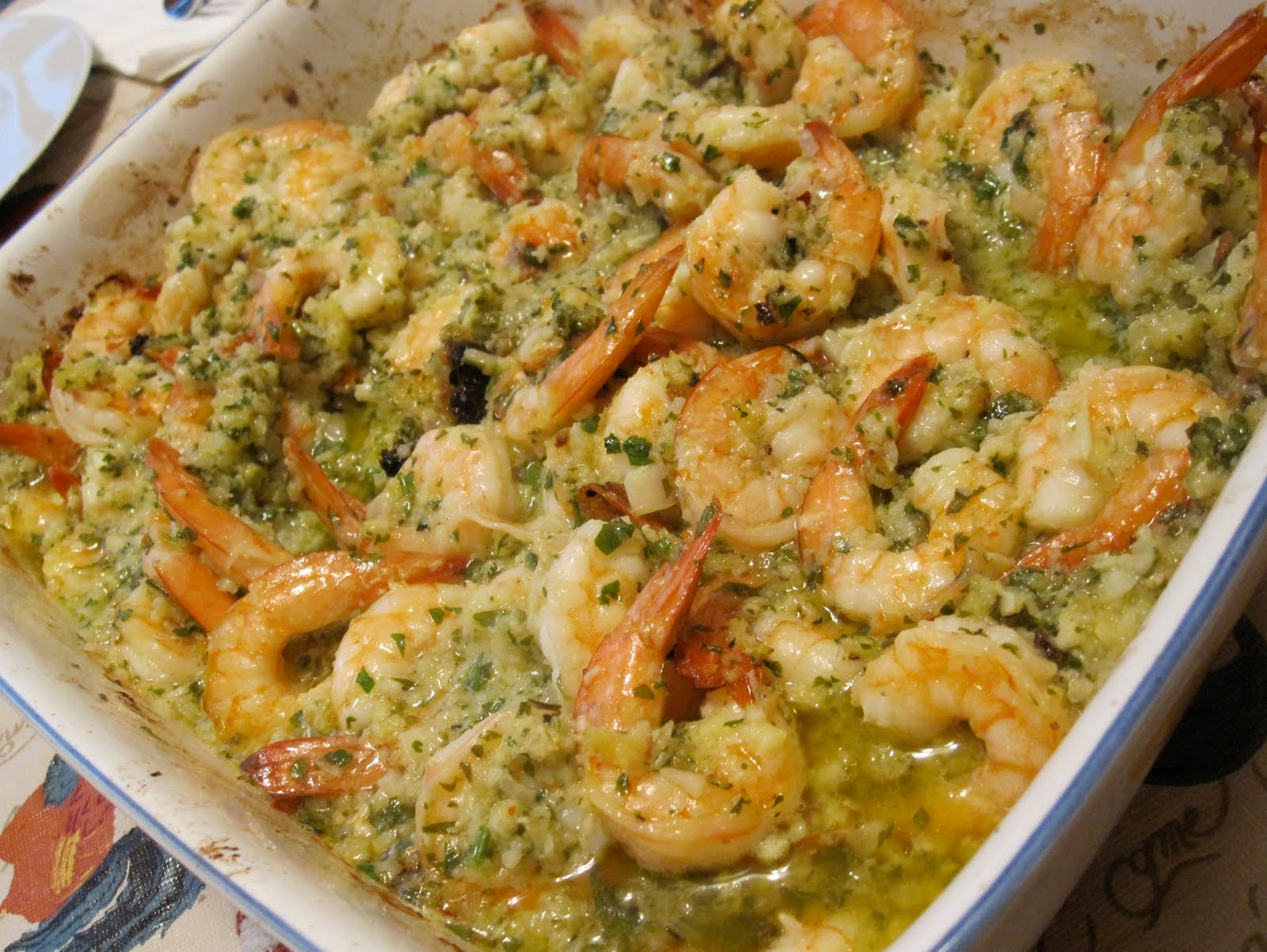 Passionate Perseverance: barefoot bloggers ~ baked shrimp scampi...