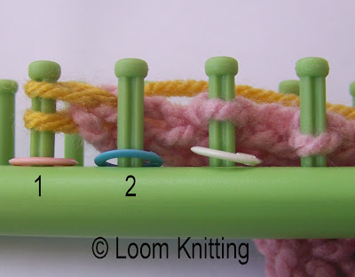 Knitting Wheel Casting Off : Loom knitting: flat bind off method