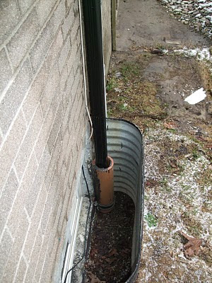 Rainwater management downpspout clay pipe flooding Toronto