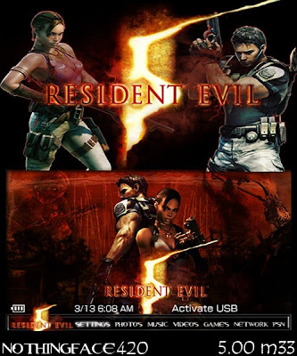 free residen evil psp themes