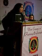 Dr.Granadillo lecturing on Shamanism at the World Congress on Psychology & Spirituality.Delhi, 2008