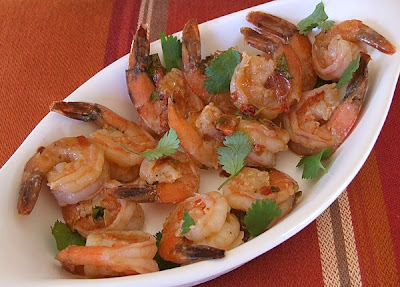... -try pile caught my eye: Pan-Seared Shrimp with Chipotle-Lime Glaze