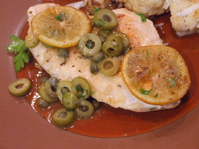 The Recipe Girl: Sauteed Chicken with Olives, Capers and Roasted ...