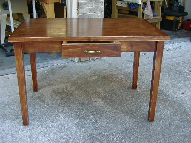 table, with secretary drawer