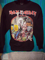 vintage  iron maiden sweater