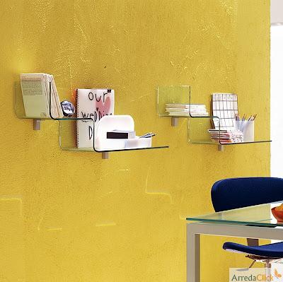 arredaclick italienisches designm bel blog glasregale eine elegante durchsichtigkeit. Black Bedroom Furniture Sets. Home Design Ideas