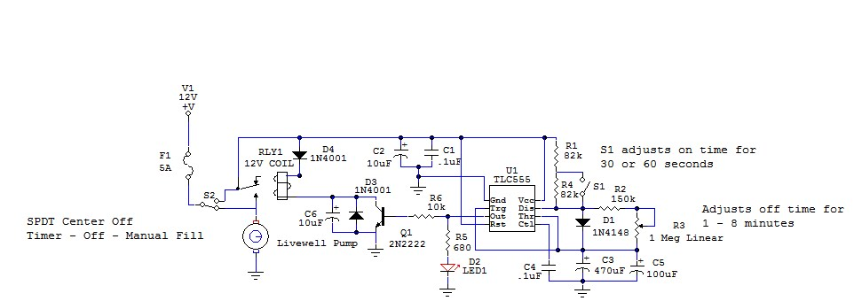 Netbook To Chartplotter Project  Livewell Timer Circuit
