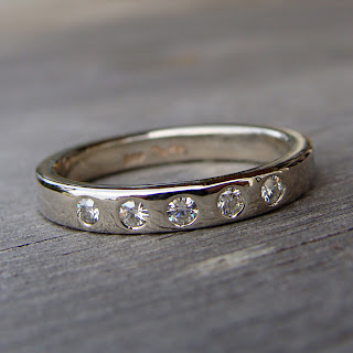 moissanite white gold ring
