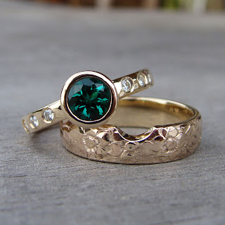 emerald wedding rings