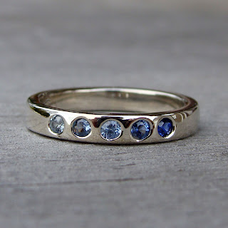 sapphire wedding band