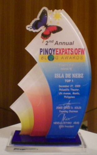 This award is inspired by OFWs