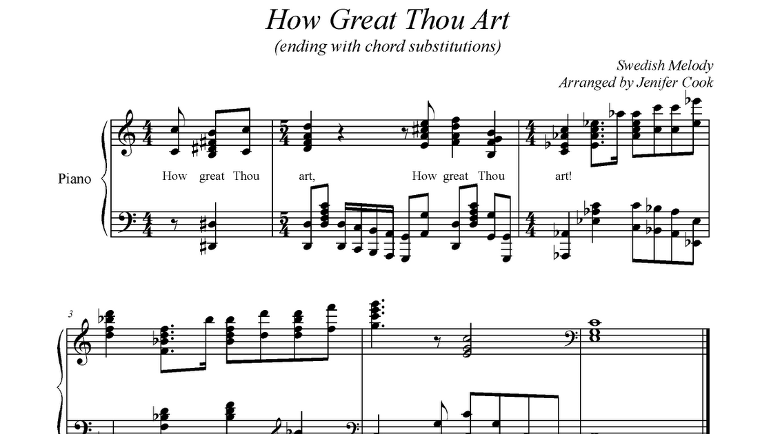 The Church Pianist: The Church Pianist: How Great Thou Art Piano ...