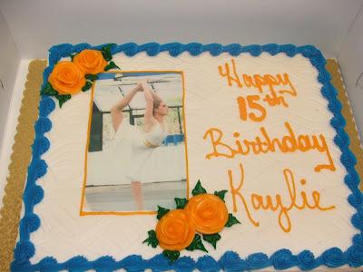 Birthday Cake 15th. Kaylie#39;s Birthday cake.