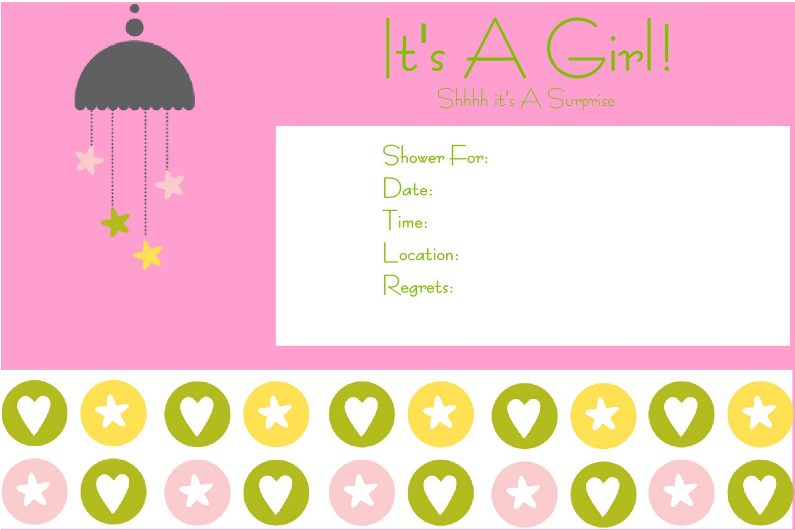 sweet touch events it 39 s a girl baby shower invite