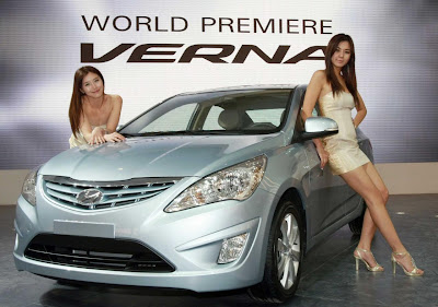 2011 Hyundai Verna-Accent with Sexy Models