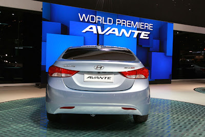 2011 Hyundai Avante Rear View