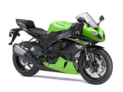 2010 Kawasaki Ninja ZX-6R Green Black