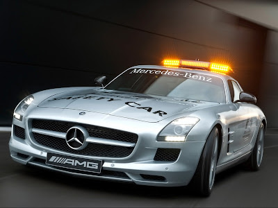 2010 Mercedes Benz SLS AMG F1 Safety Car Front Angle View